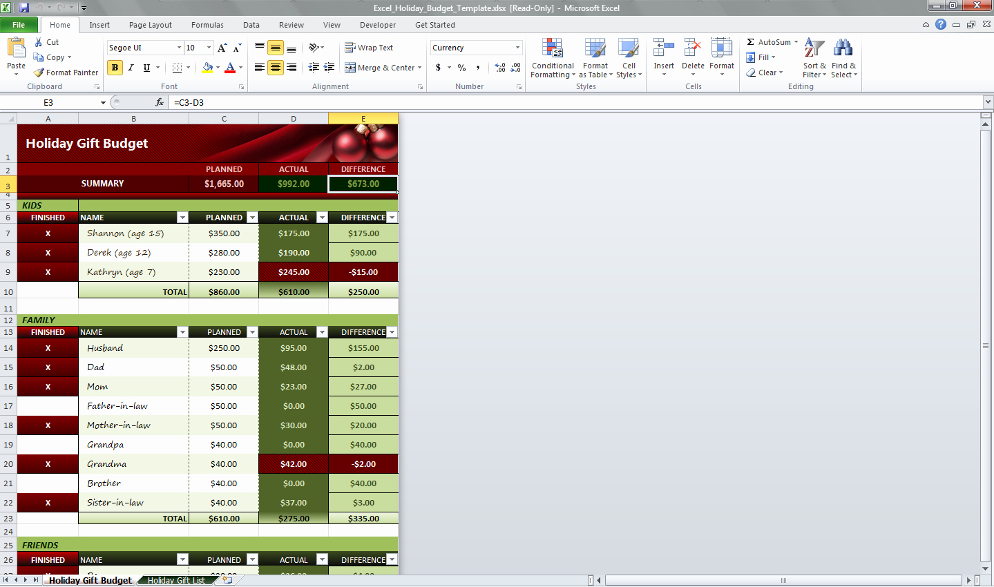 Ms Office Budget Template Unique Excel Holiday Bud Template