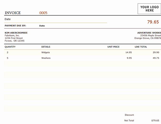 Ms Office Invoice Template Elegant Invoices Fice