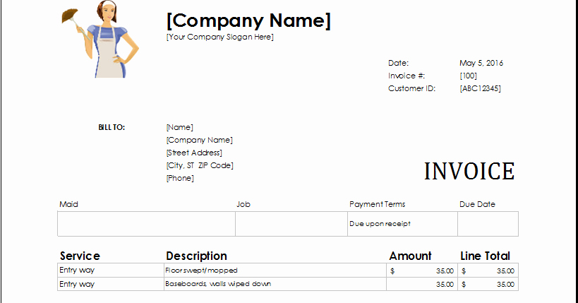 Ms Office Invoice Template Inspirational Download Ms Excel Service Invoice Templates Excel Template