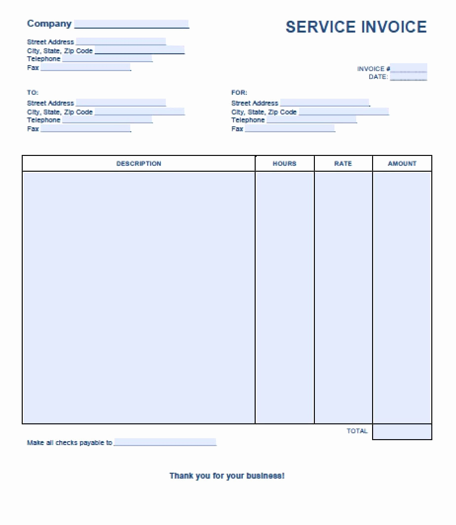 Ms Office Invoice Template Lovely Free Service Invoice Template Excel Pdf