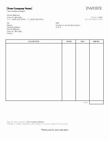 Ms Office Invoice Template Unique Invoice Template Category Page 1 Efoza