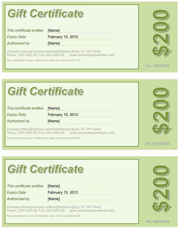 Ms Word Gift Certificate Template Awesome Gift Certificate