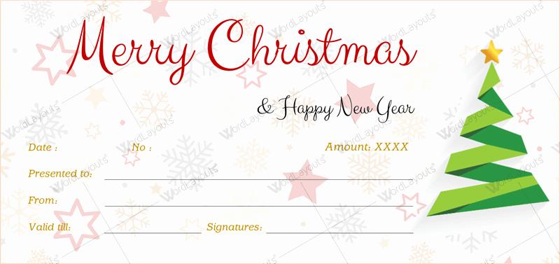 Ms Word Gift Certificate Template Elegant Christmas Gift Certificate Template 39 Word Layouts