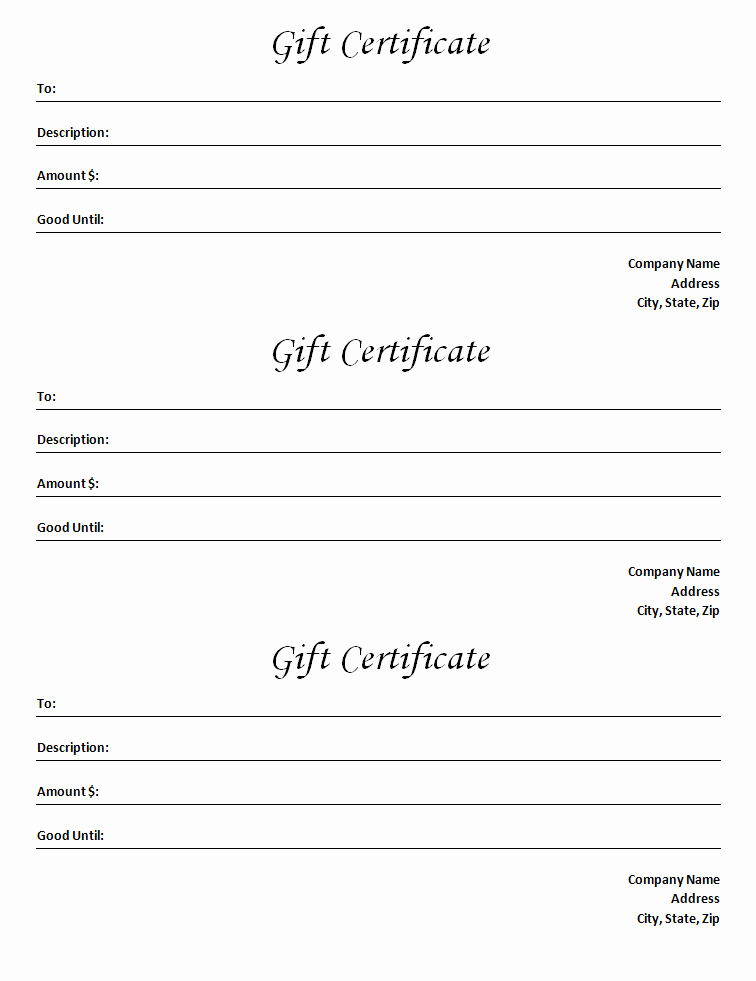 Ms Word Gift Certificate Template Elegant Gift Certificate Template Blank Microsoft Word Document