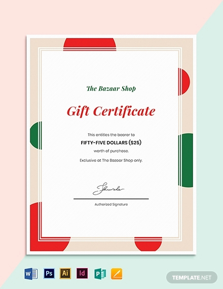 Ms Word Gift Certificate Template Inspirational 10 Holiday Gift Certificate Template Illustrator