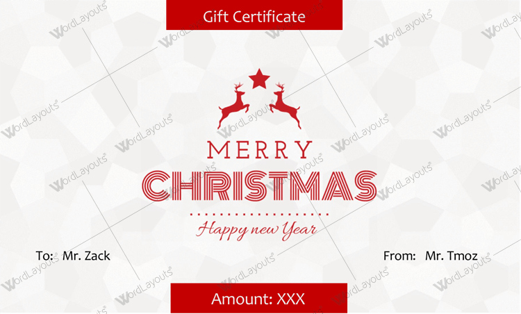 Ms Word Gift Certificate Template Inspirational Christmas Gift Certificate Templates Best Designs