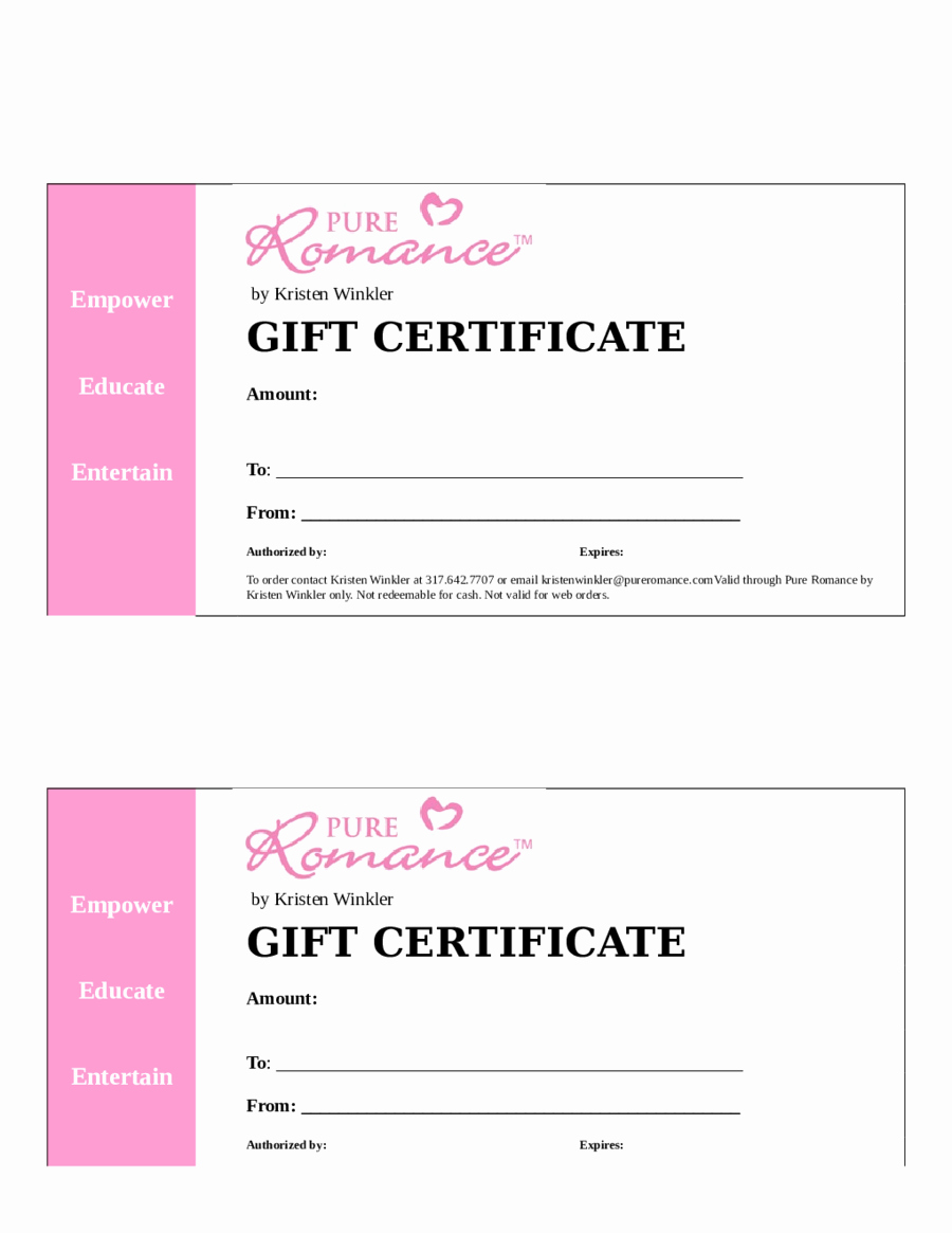 Ms Word Gift Certificate Template Inspirational Word Gift Certificate