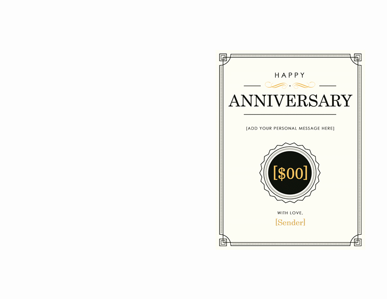 Ms Word Gift Certificate Template Lovely Anniversary Gift Certificate Template Word 2003