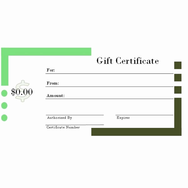 Ms Word Gift Certificate Template New Gift Certificate Template Microsoft Word – Printable