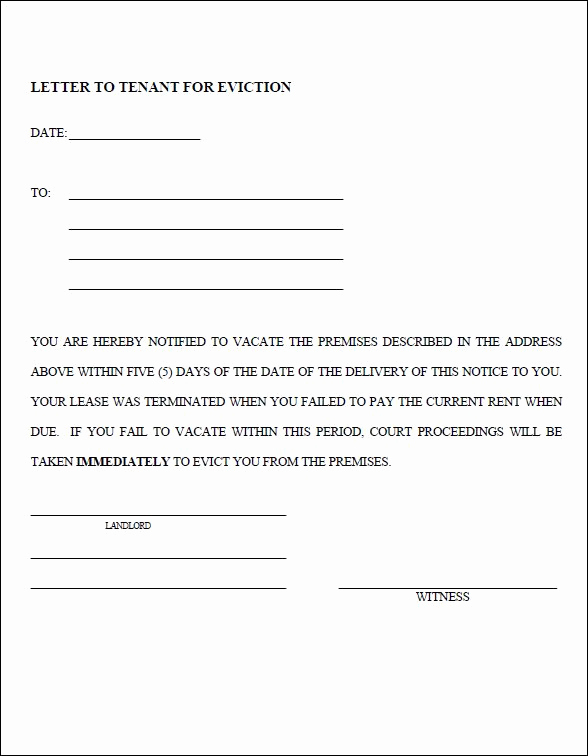 Nc Eviction Notice Template Inspirational 30 Day Eviction Notice form