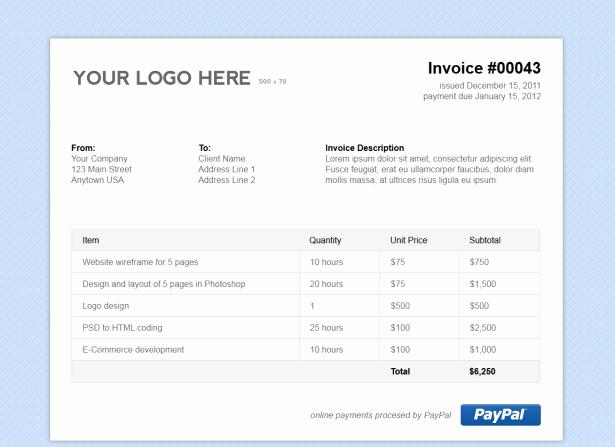 Non Profit Invoice Template Elegant Simple HTML Invoice Template Stationery Templates On