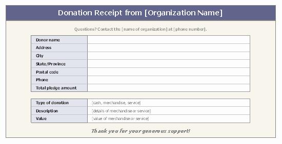 Non Profit Invoice Template Fresh Donation Receipt