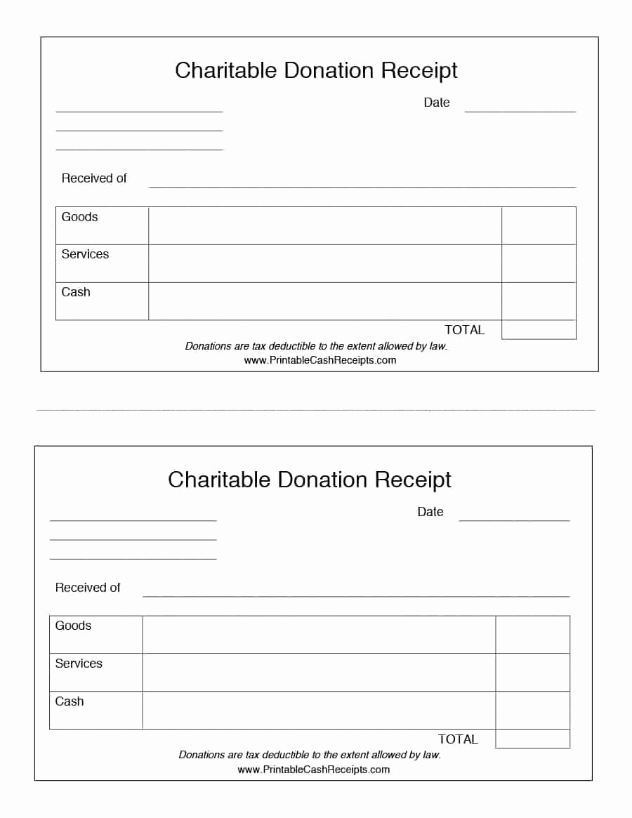 Non Profit Invoice Template Lovely Donation Receipt Template