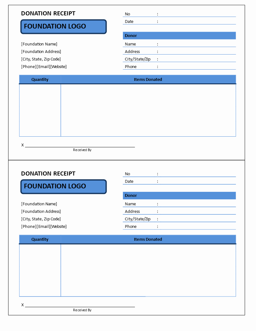 Non Profit Invoice Template New Non Profit Donation Receipt Template