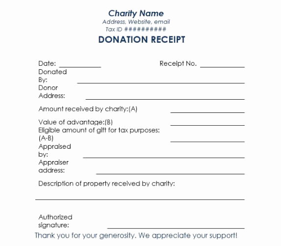 Non Profit Invoice Template Unique Non Profit Donation Receipt Template