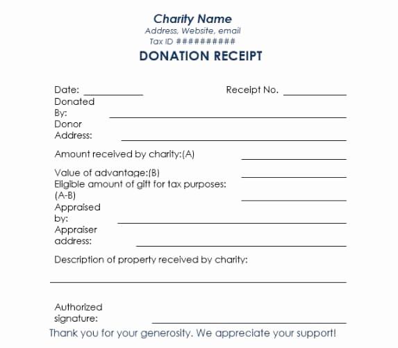 Non Profit Invoice Template Unique Non Profit Donation Receipt Template