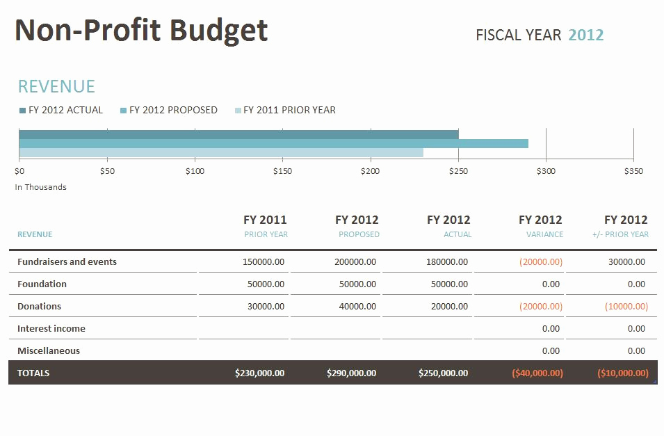 Non Profit Operating Budget Template Best Of Nonprofit Bud Template