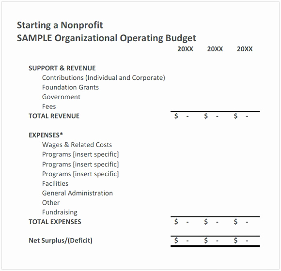 Non Profit organization Budget Template Best Of Nonprofit Bud Template
