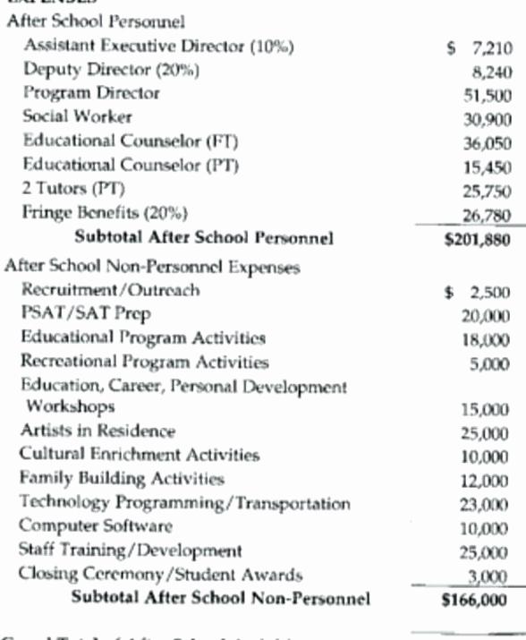 Non Profit organization Budget Template Inspirational 8 Non Profit Bud Template