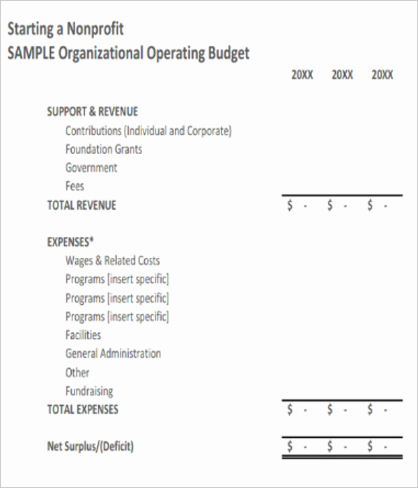 Non Profit organization Budget Template Unique 10 Free Non Profit Bud Templates Excel Word Sample