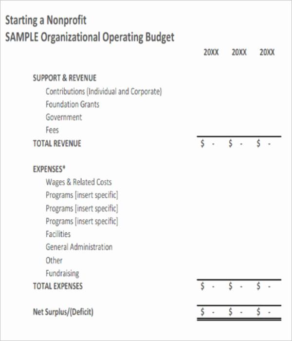 Non Profit organization Budget Template Unique 10 Free Non Profit Bud Templates Excel Word Sample