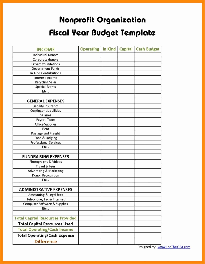 Nonprofit Program Budget Template Luxury New Home Construction Cost Spreadsheet with Construction