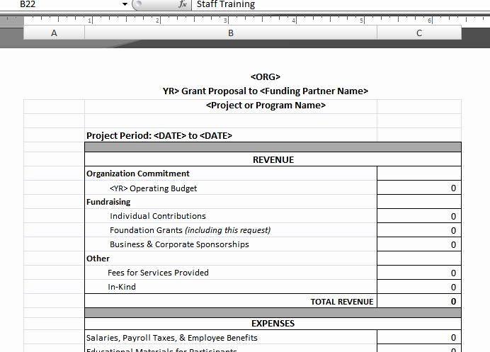 Nonprofit Program Budget Template Luxury Program Bud Template – Upward Development