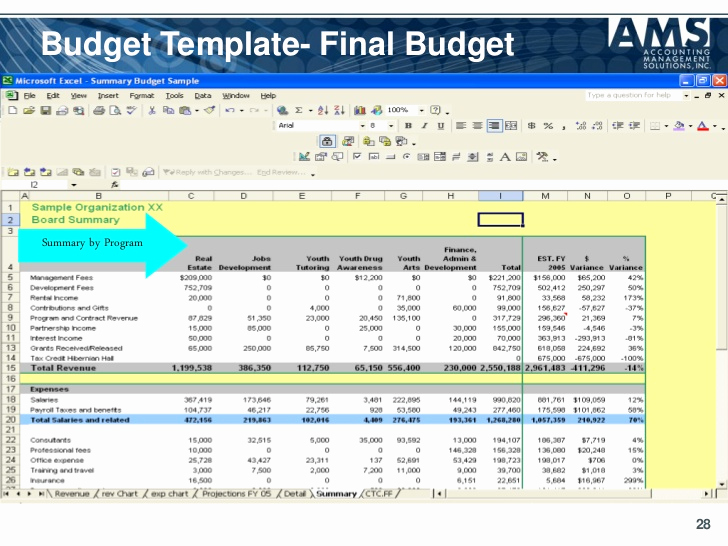 Nonprofit Program Budget Template New Sample Nonprofit Bud