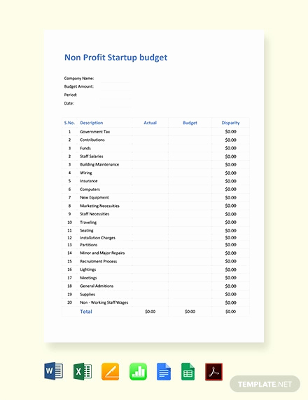 Nonprofit Program Budget Template Unique 14 Nonprofit Bud Templates Word Pdf Excel
