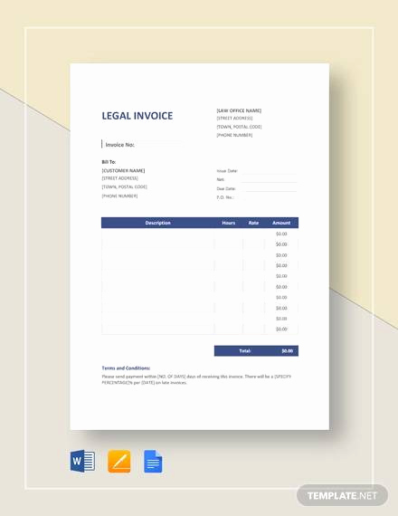 Notary Invoice Template Free New Sample Legal Invoice 7 Examples In Pdf Word