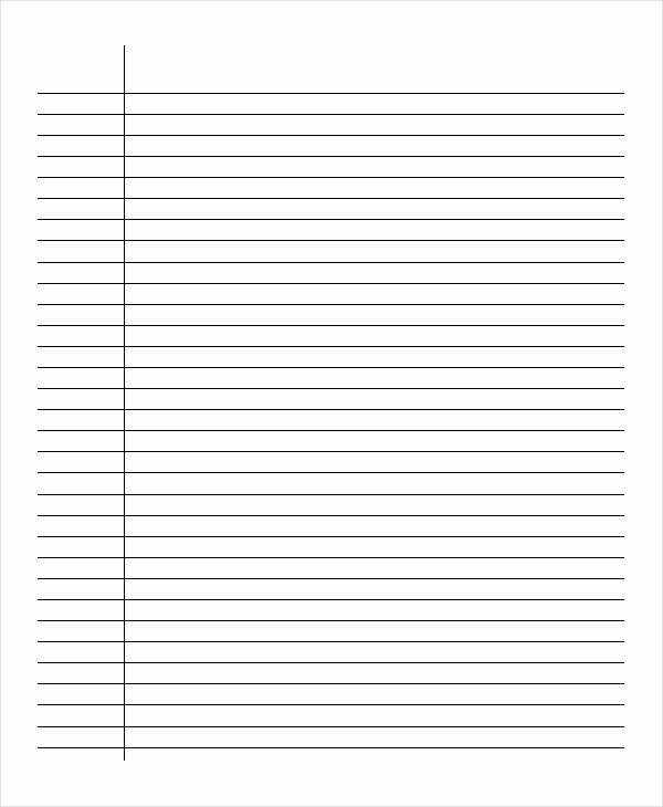 Note Taking Template Word Beautiful Lined Paper 11 Free Word Pdf Psd Documents Download