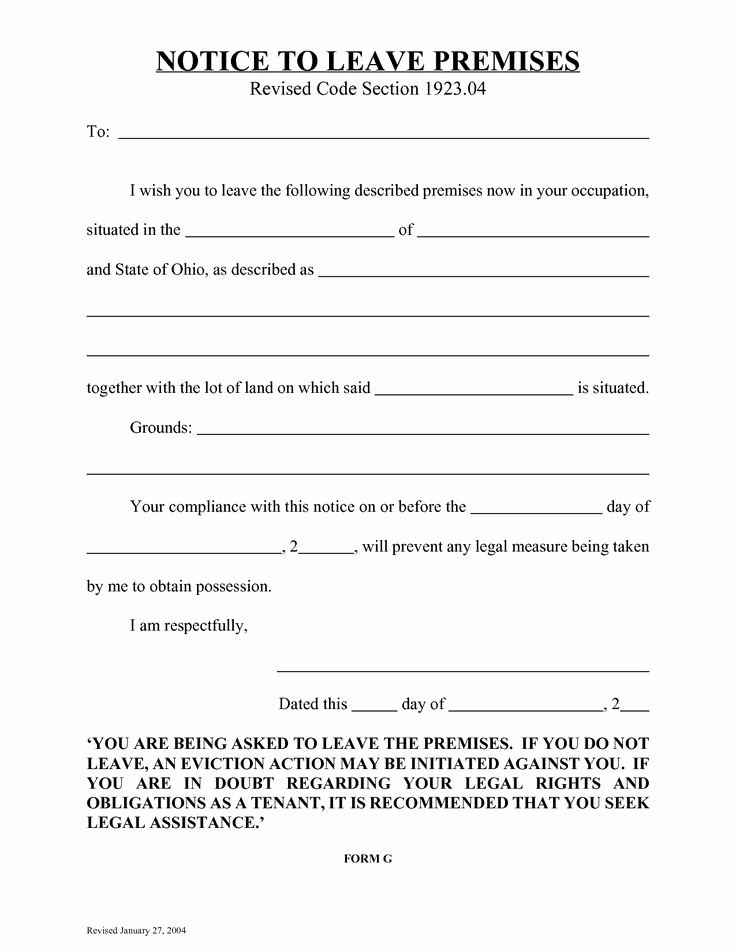 Notice to Vacate Texas Template New 10 Best Eviction Notice Florida form Blank
