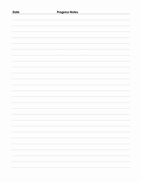 Nursing Progress Notes Template Awesome Patient Progress Notes are Generally Prepared by A
