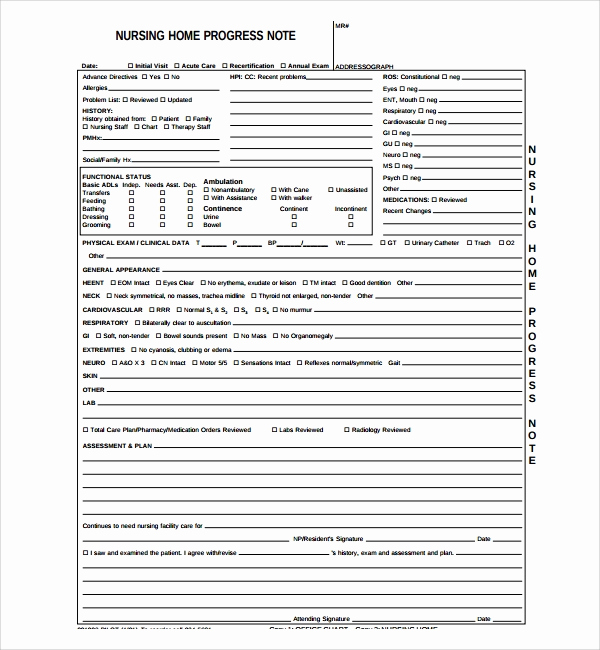 Nursing Progress Notes Template Elegant Free 8 Nursing Note Templates In Pdf