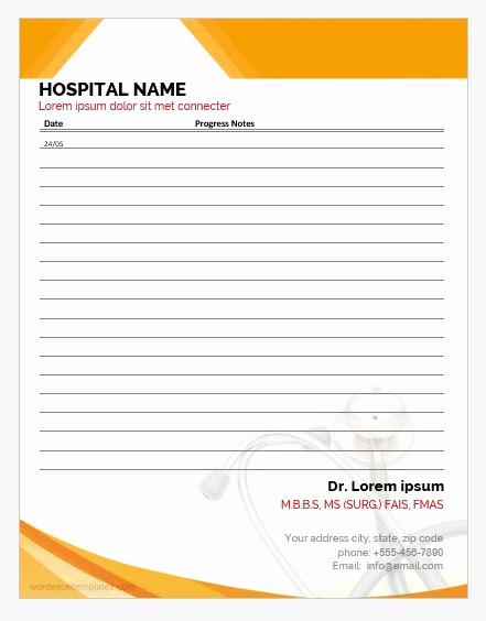nursing progress notes templates