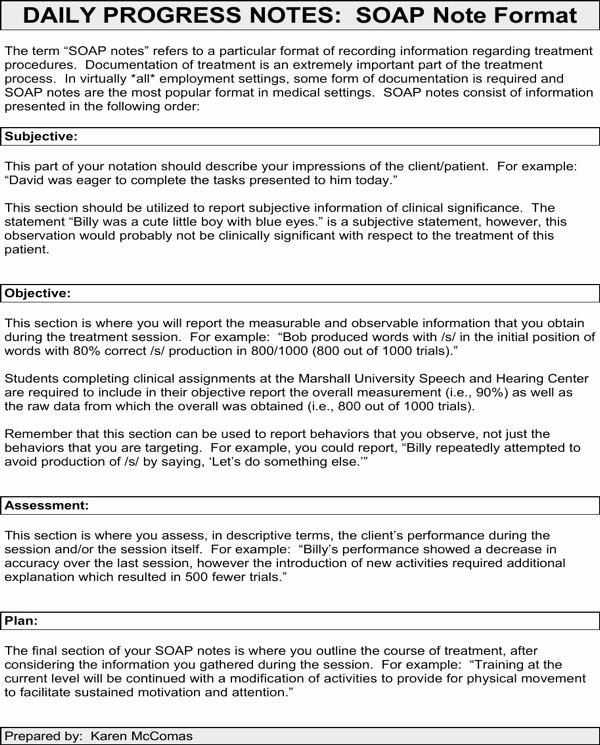 Nursing Progress Notes Template Unique Progress Note Template for Mental Health Counselors