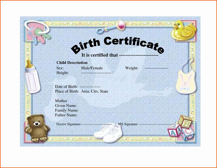 Official Blank Birth Certificate Template Luxury Download Blank Birth Certificate form for Free Tidytemplates
