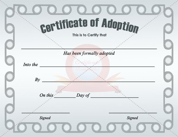 Old Birth Certificate Template Beautiful Adoption Certificate Template Certificate Templates