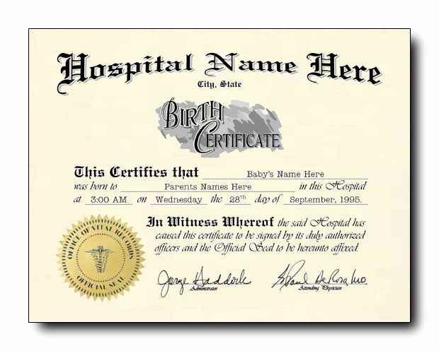 Old Birth Certificate Template Best Of E Option Means No Choice Half Blank