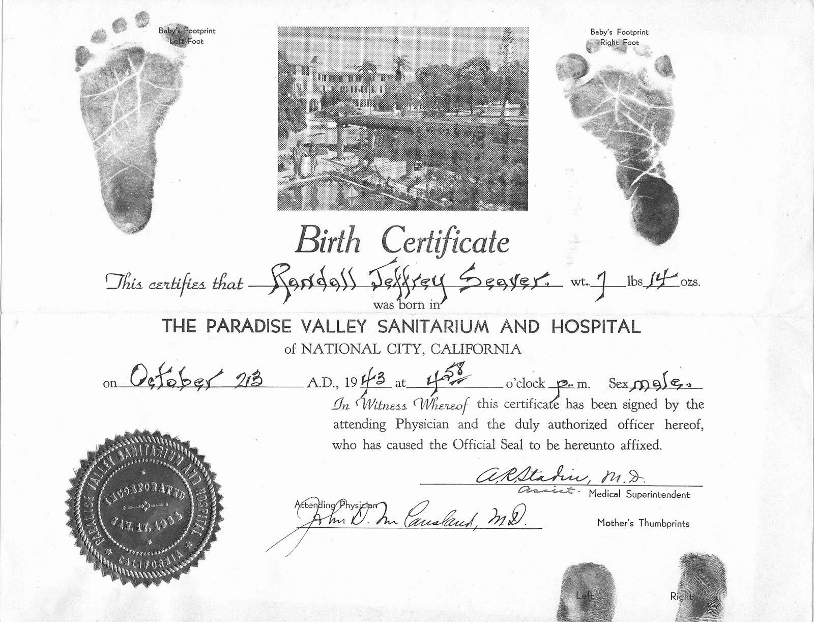 Old Birth Certificate Template Fresh Genea Musings 04 24 11