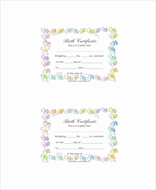 Old Birth Certificate Template Lovely Free 12 Sample Birth Certificates In Ms Word