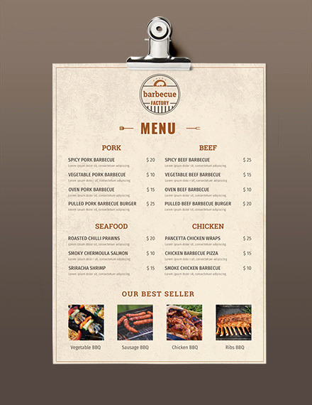 One Page Menu Template Awesome 23 Free Menu Templates Pdf Doc Excel Psd