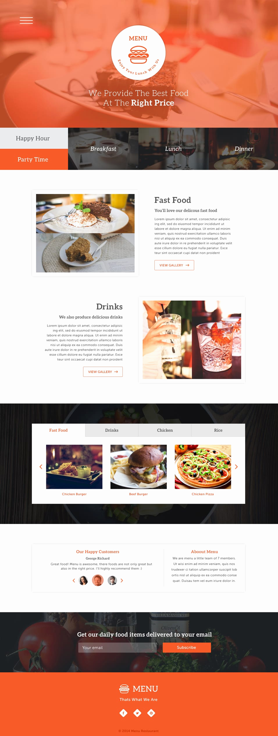 One Page Menu Template Beautiful Latest Free Web Elements From November 2014