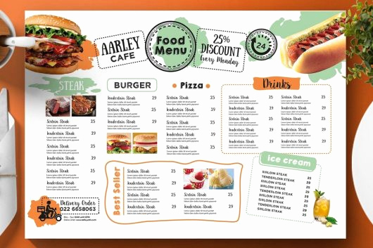 One Page Menu Template Fresh 30 Best Food & Drink Menu Templates – Irc Web Services