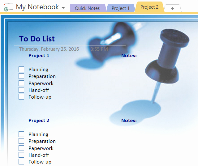 Onenote to Do List Template Awesome How to Adopt Enote Templates for Project Management