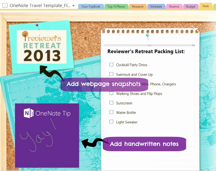 Onenote to Do List Template Awesome Travel Made Easy with Microsoft Enote Travel Template