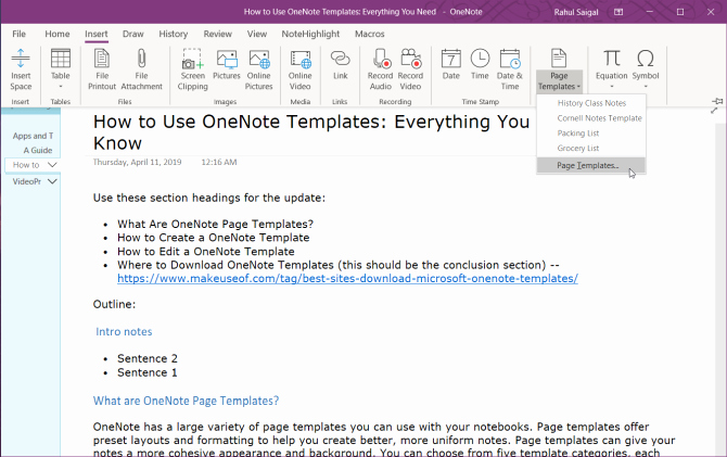 Onenote to Do List Template Lovely How to Use Enote Templates Everything You Need to Know