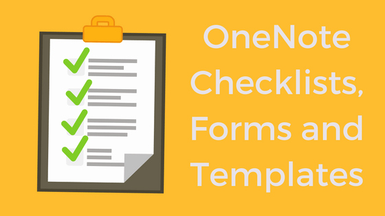 Onenote to Do List Template Luxury Templates forms and Checklists with Enote Class and