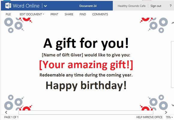 Online Gift Certificate Template Elegant Best Gift Certificate Templates for Word Line