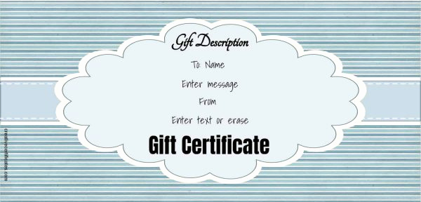 Online Gift Certificate Template Elegant Free Gift Certificate Template 50 Designs